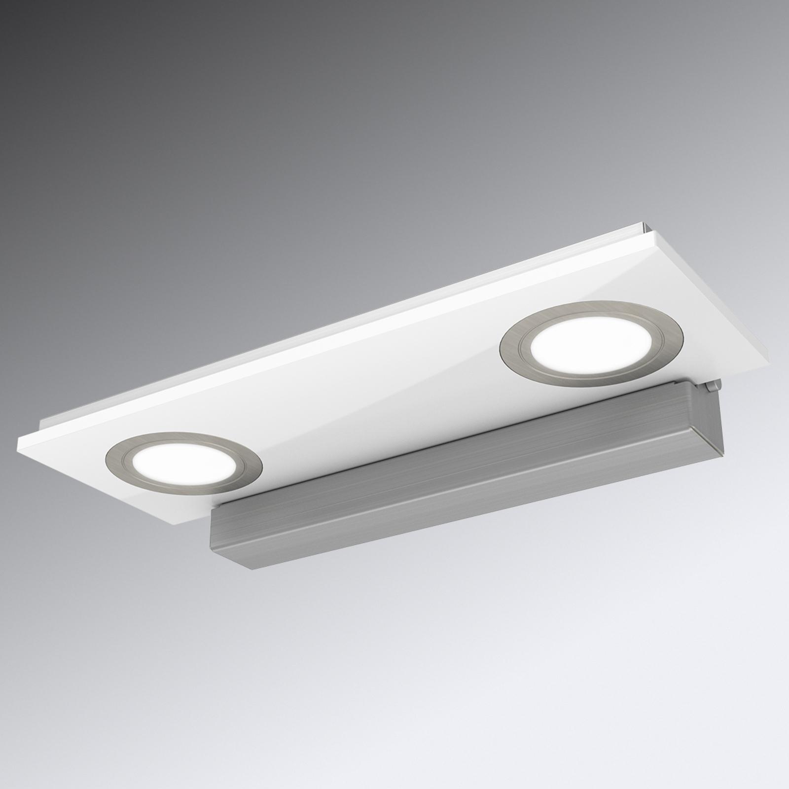 2-punktowa lampa sufitowa LED Pano, biała