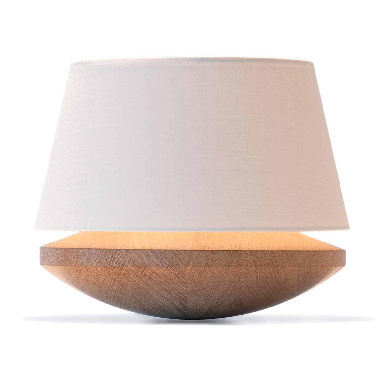 Kjell - bordlampe med linnedskærm, creme