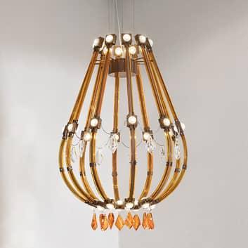 Bruin-oranje gekleurde LED hanglamp Raqam E