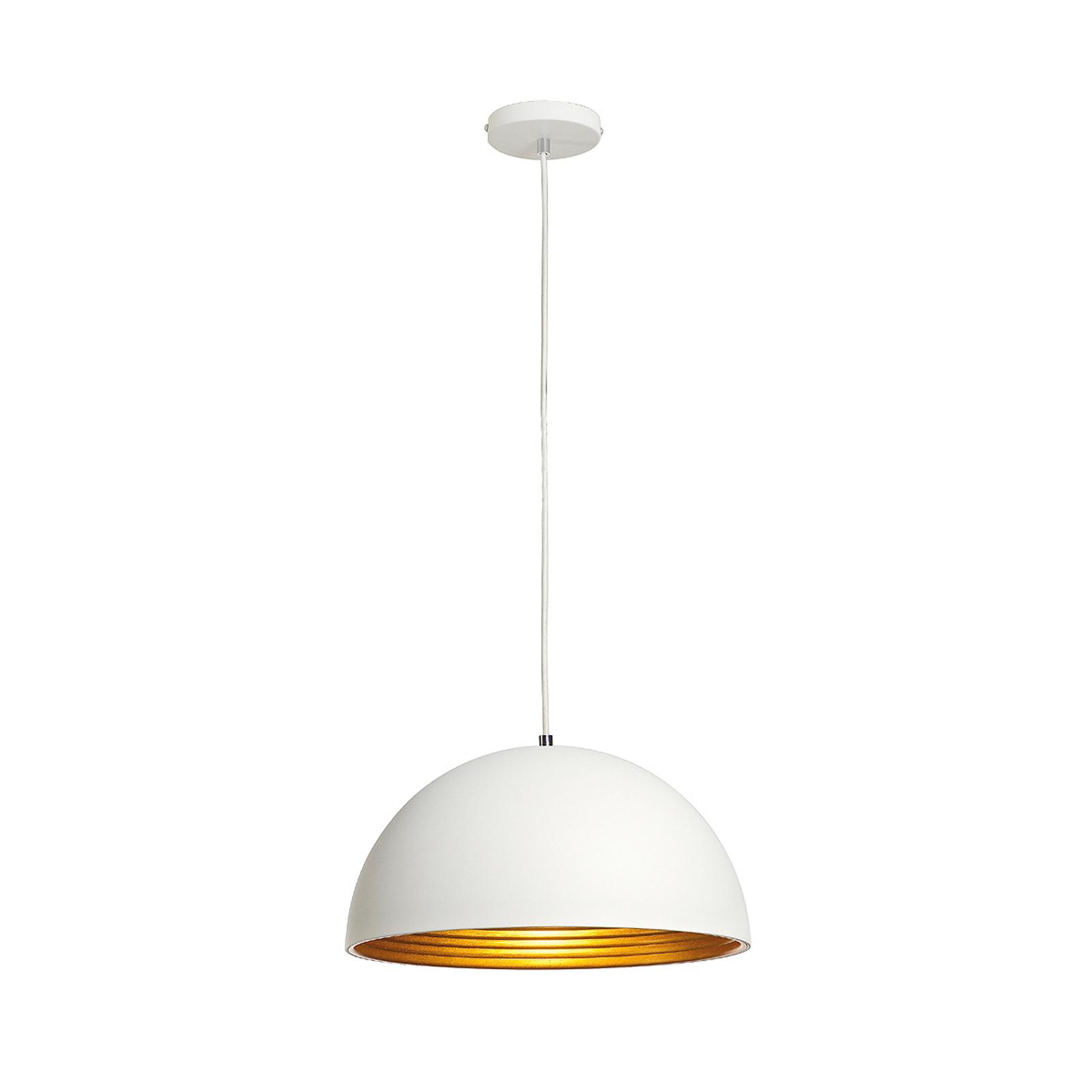 Biało-złota lampa wisząca FORCHINI M, 40 cm