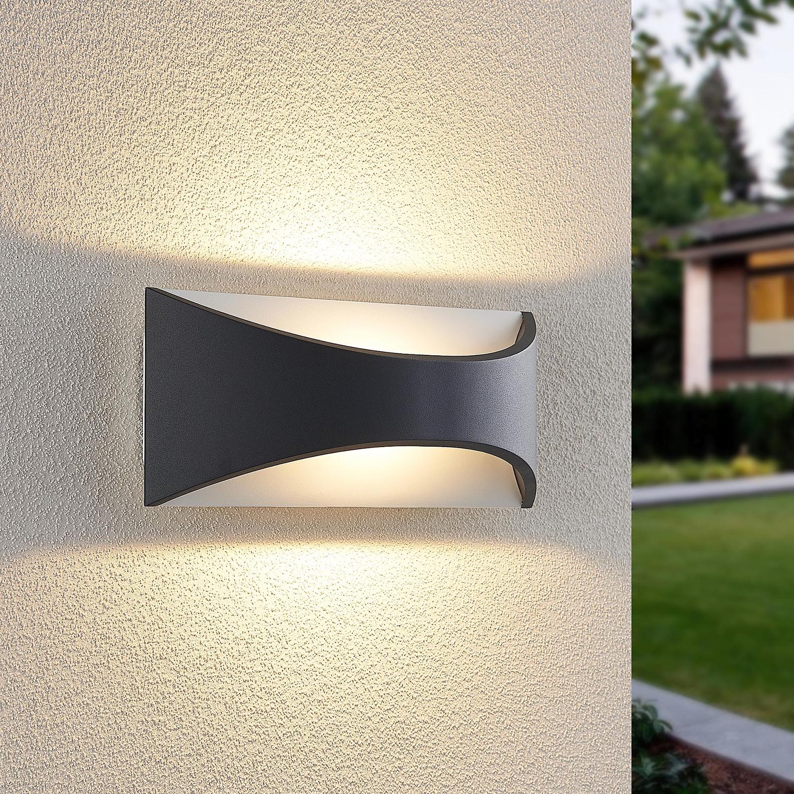 Lindby Mathea LED buitenwandlamp, lengte 30 cm