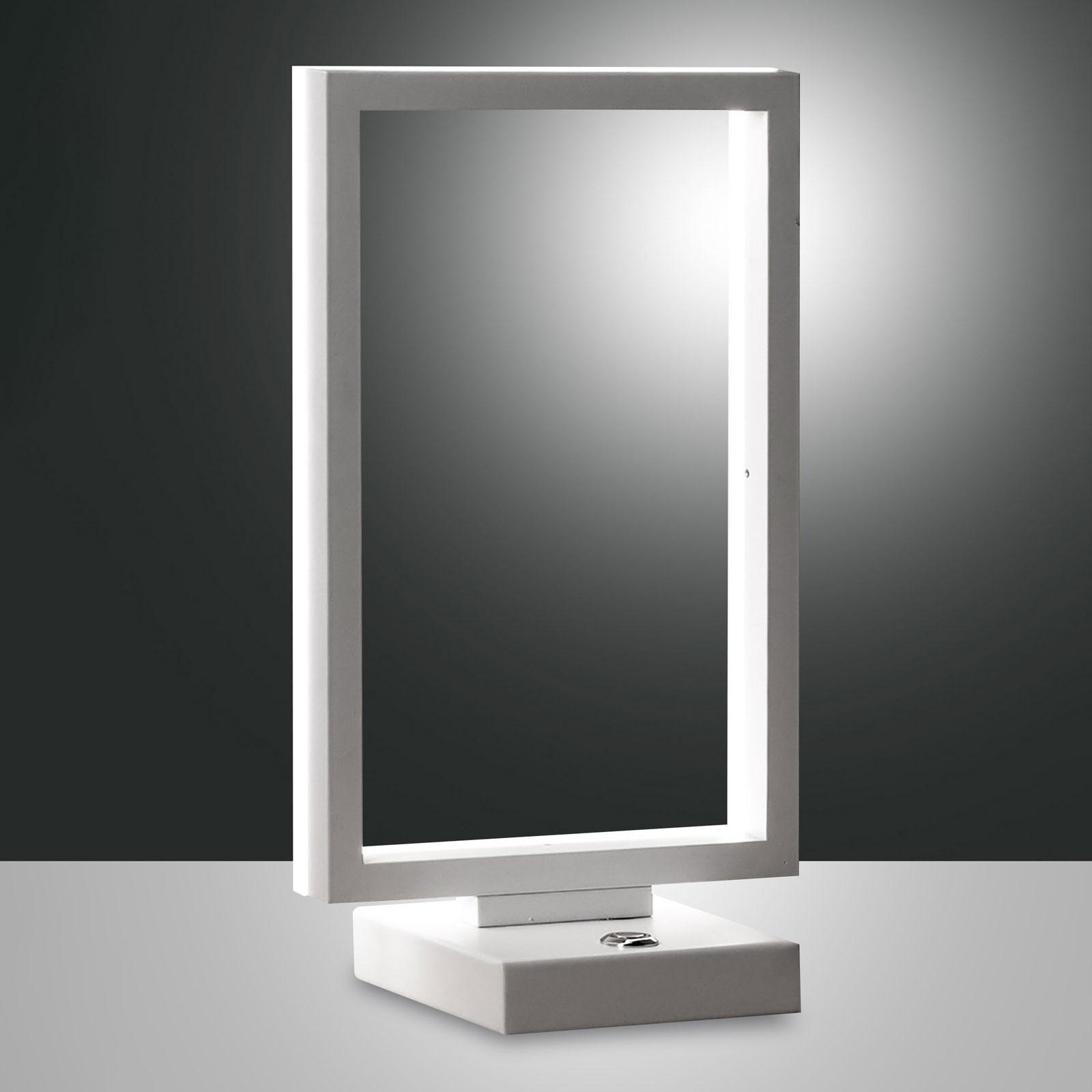 Lampe à poser LED Bard, dimmable, en blanc