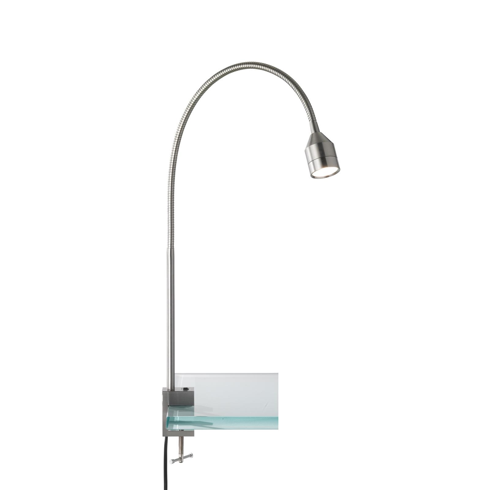 LED-Klemmleuchte Lovi mit Schalter, nickel