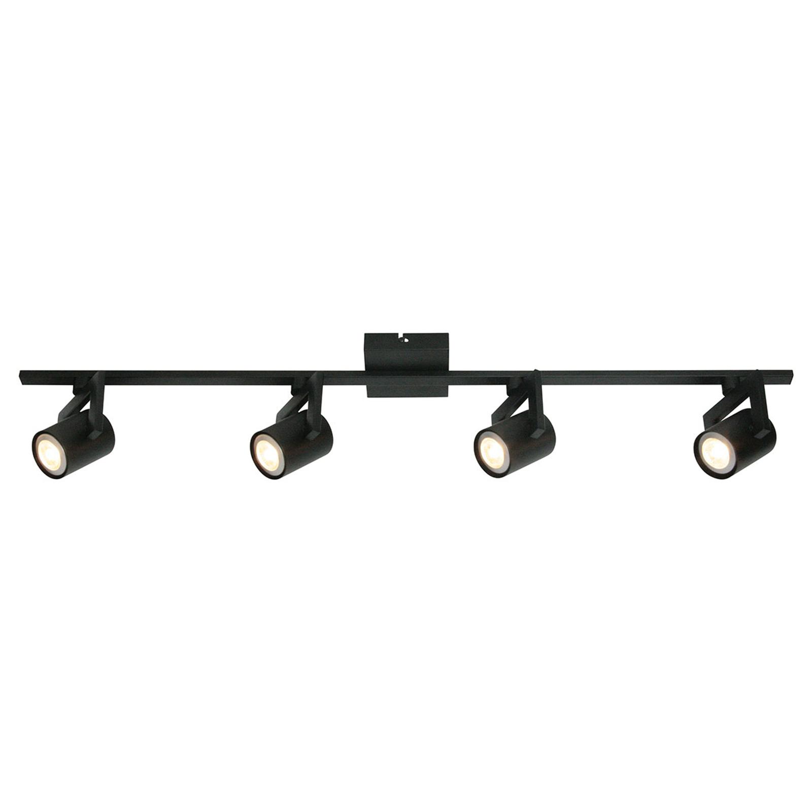 Lampa sufitowa ValvoLED czarna, 4-punktowa