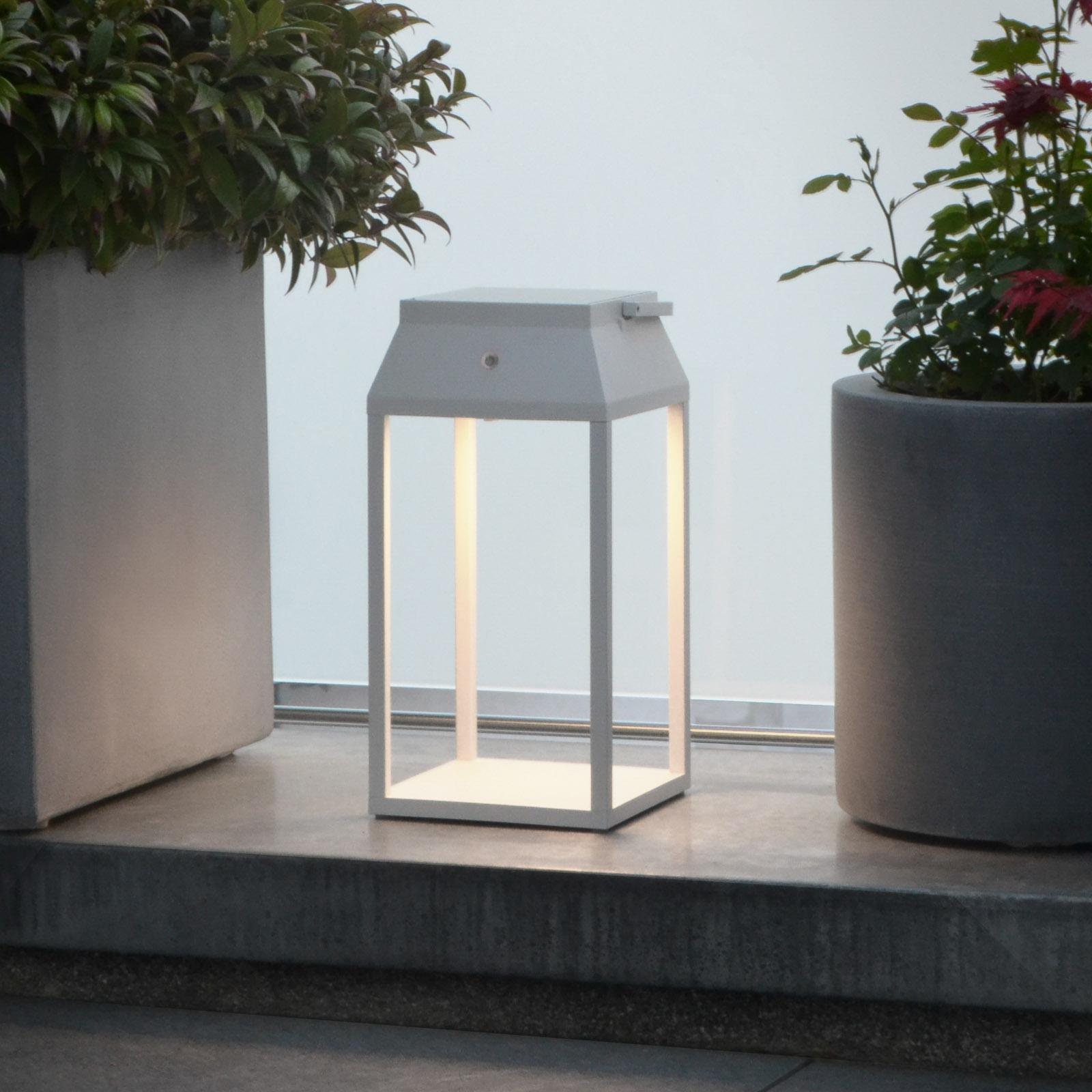 Latarnia solarna LED Louis, biała