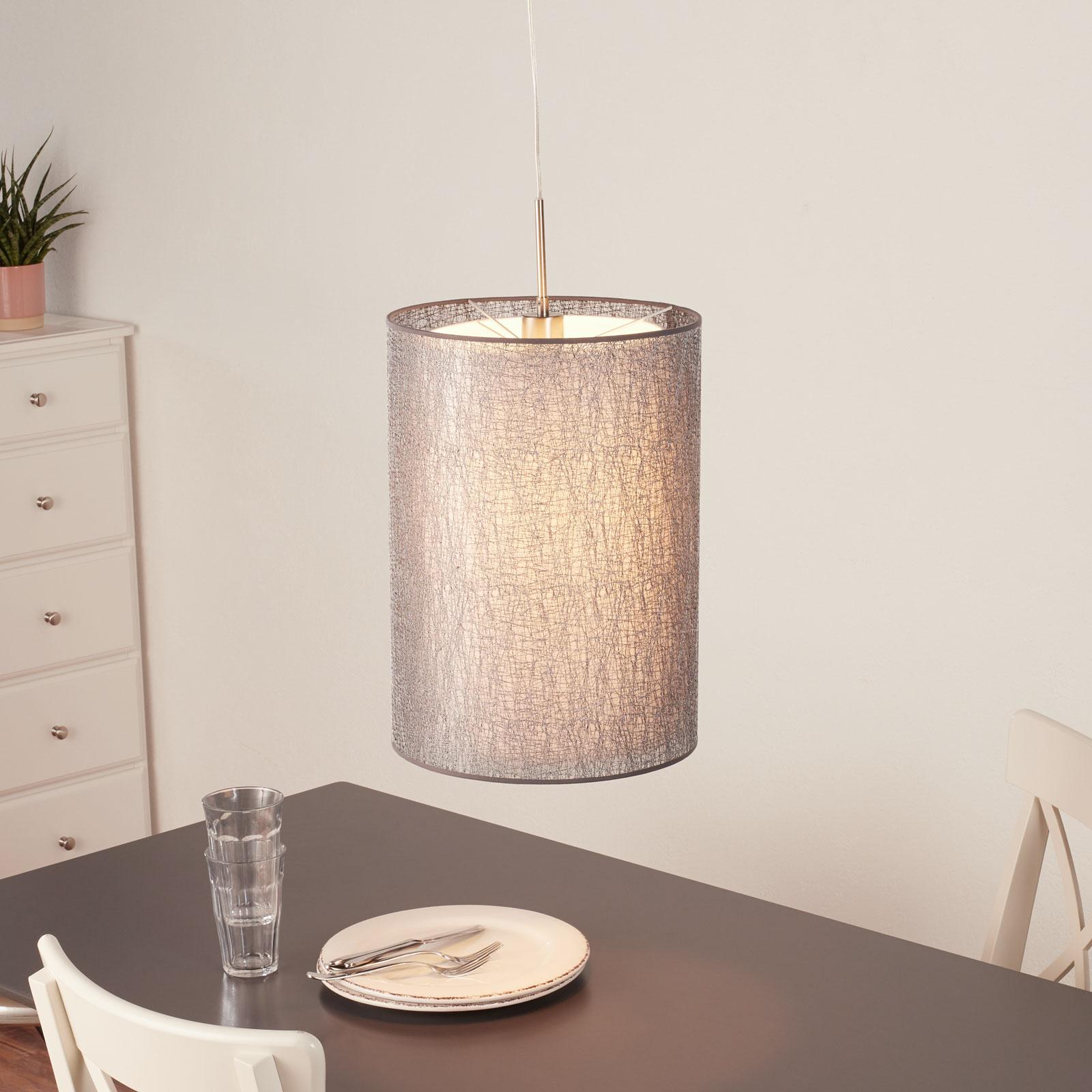Lampa wisząca Gaas z tekstylnym kloszem