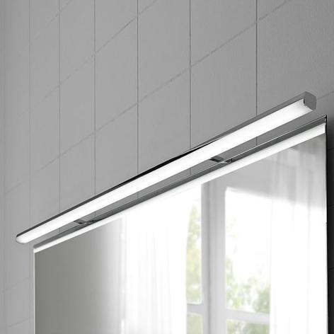Lámpara de espejo LED Ruth en cromo, 110 cm