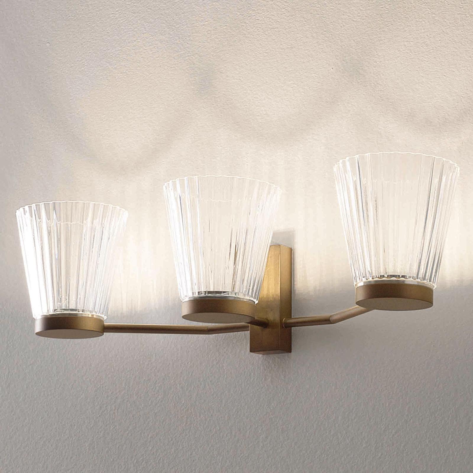 ICONE Canaletto - LED wandlamp, brons
