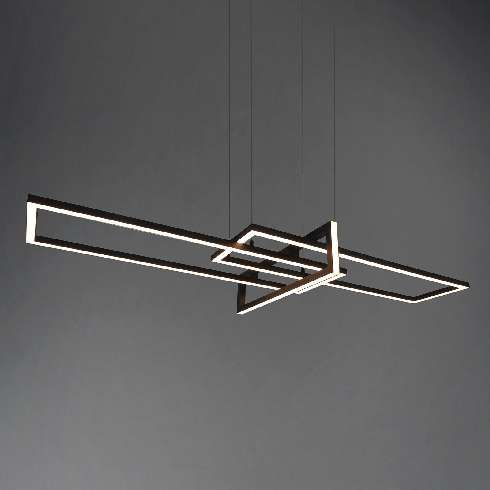 LED-hengelampe Salinas, 3000K, matt svart