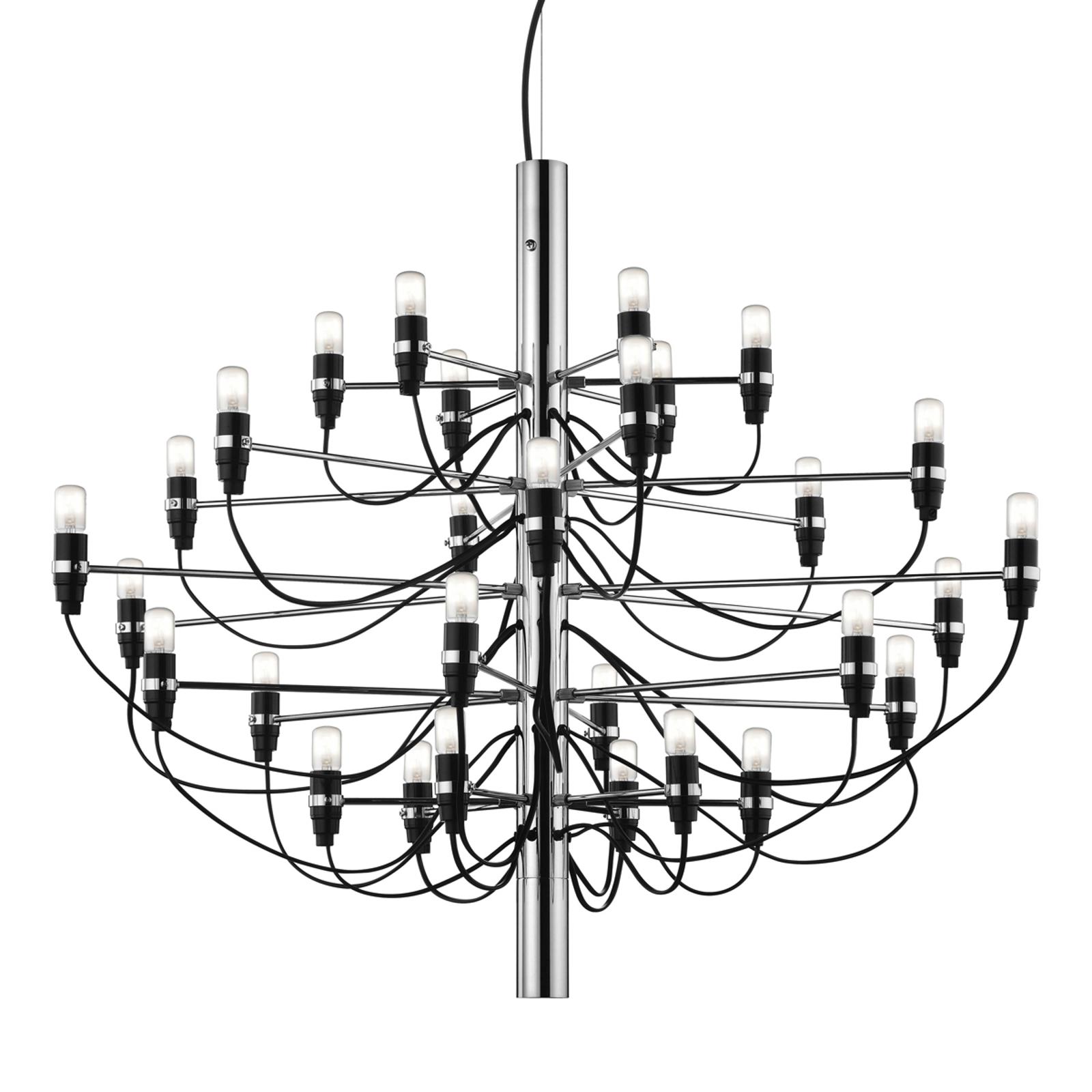 2097 - lampadario a 50 bracci, cromo