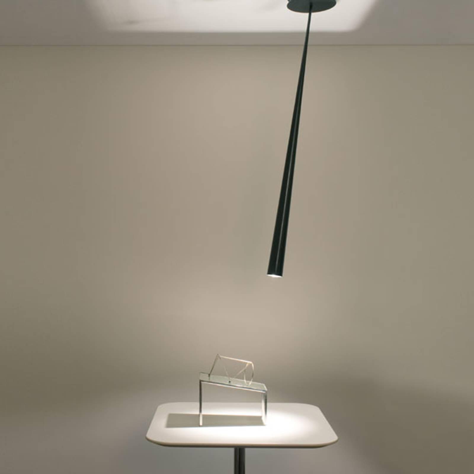 Designerska lampa wisząca Drink, czarna, 127 cm