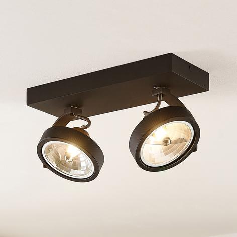 Arcchio Dagur spot pour plafond à 2 lampes noir