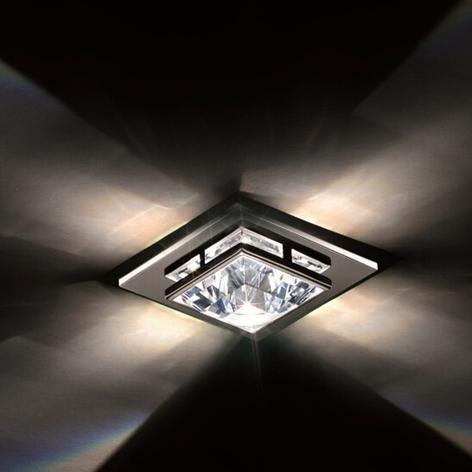 Takinnbygningslampe Madison med Swarovski-krystall