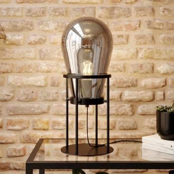 Lucande Viyan lámpara de mesa con globo de vidrio