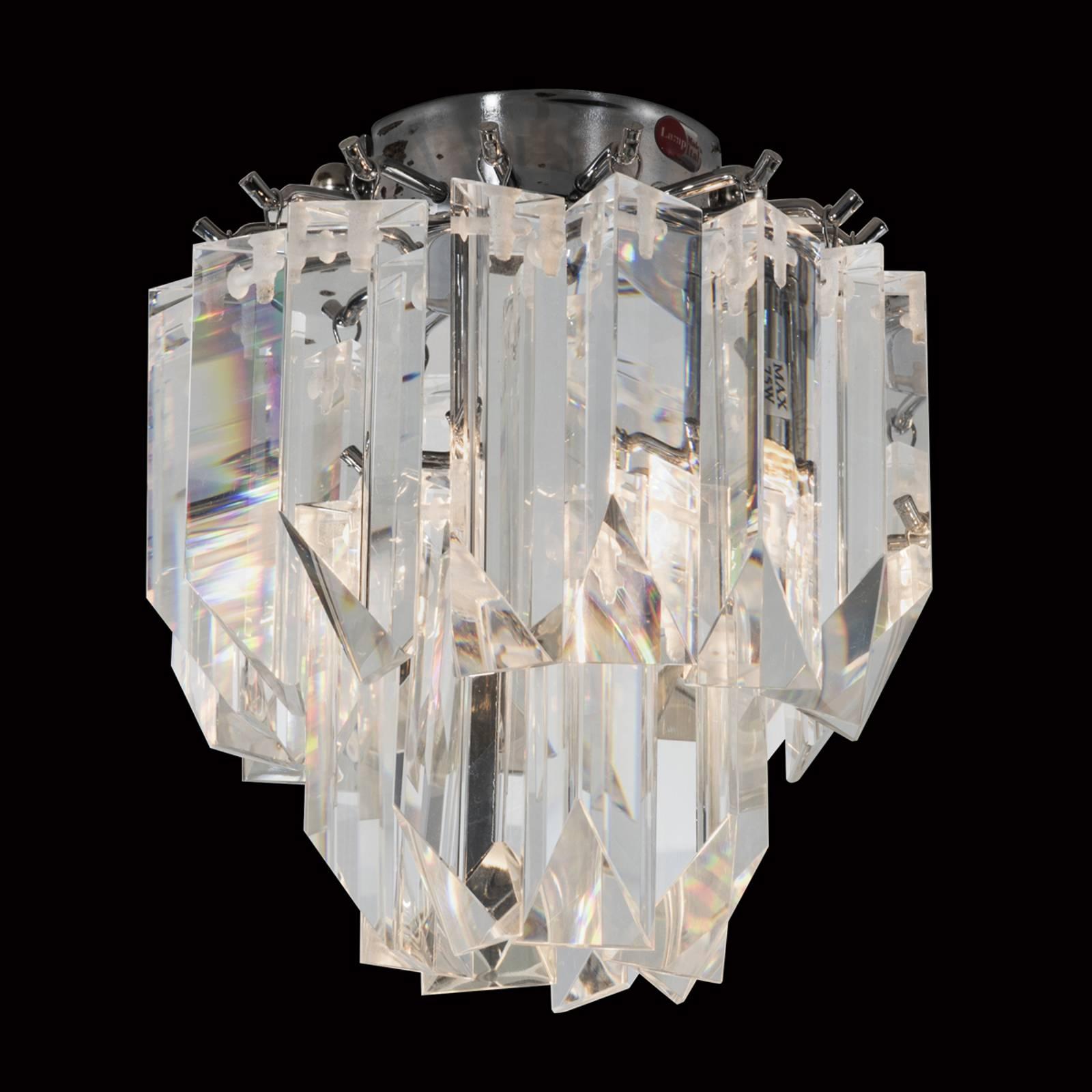 Plafondlamp Cristalli van loodkristal 18 cm
