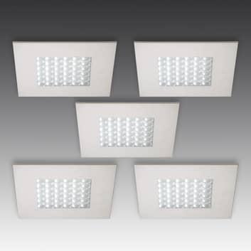 Q 68 LED-innfellingsspot i rustfritt stål, 5 stykk