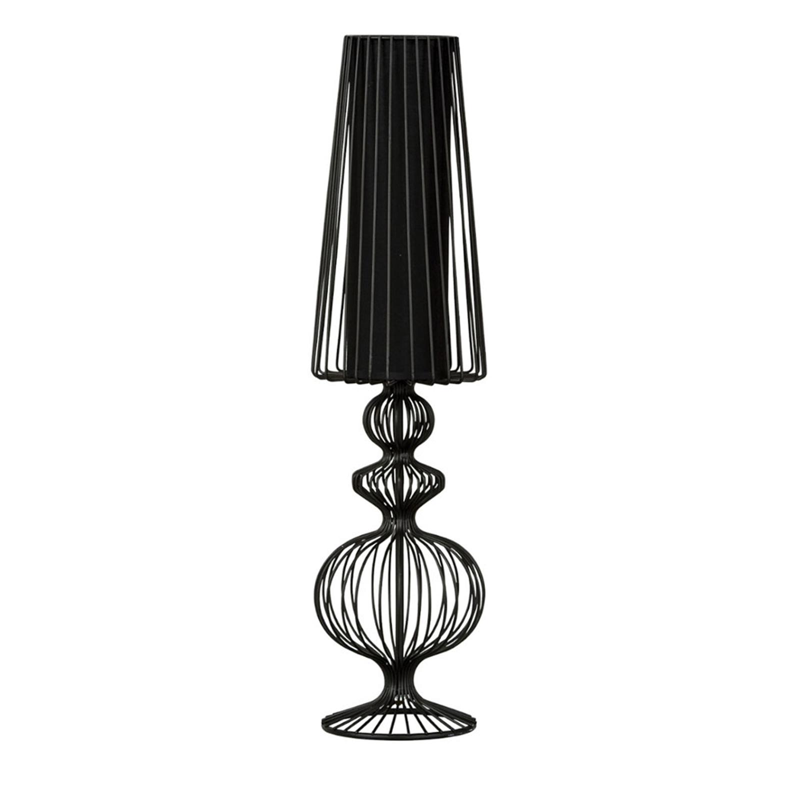 Bordlampe Aveiro L med svarte metallstenger