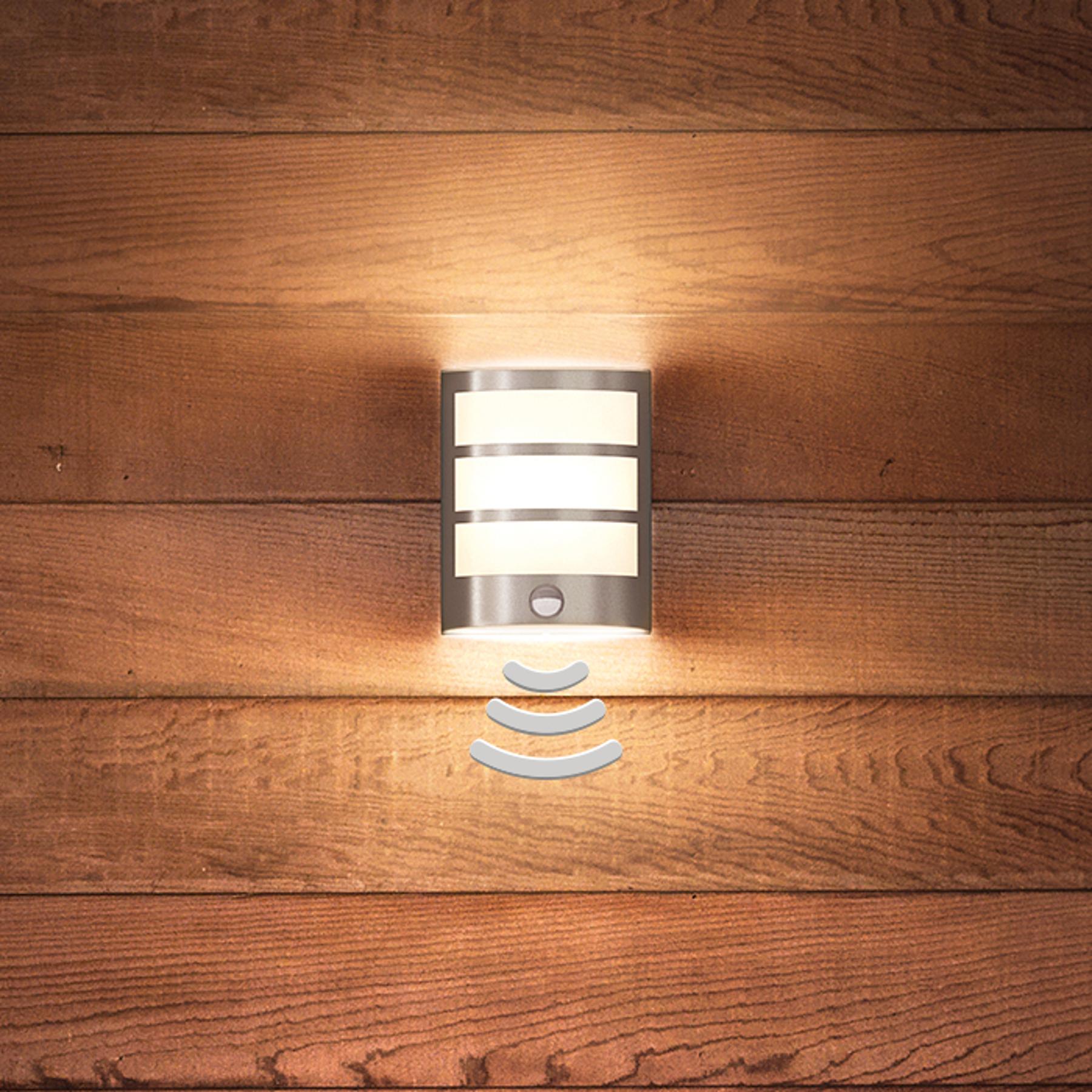 Mooie LED wandlamp Python met bewegingssensor