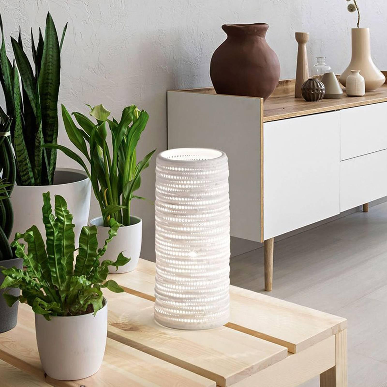 Tischleuchte Marbella aus Keramik, Höhe 25 cm