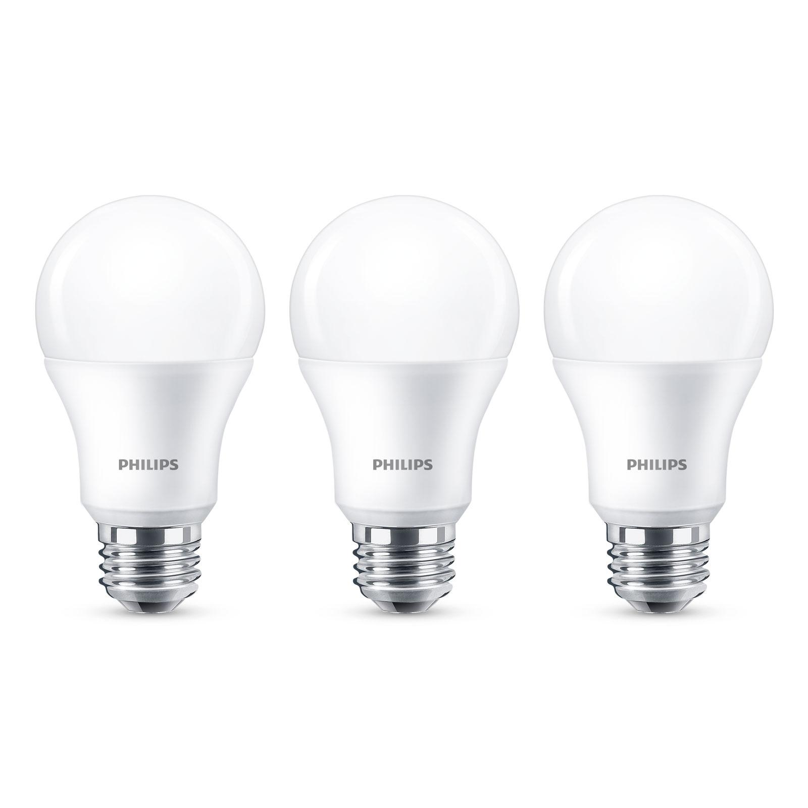 Philips E27 LED-Lampe A60 8W 2.700K matt 3er Pack