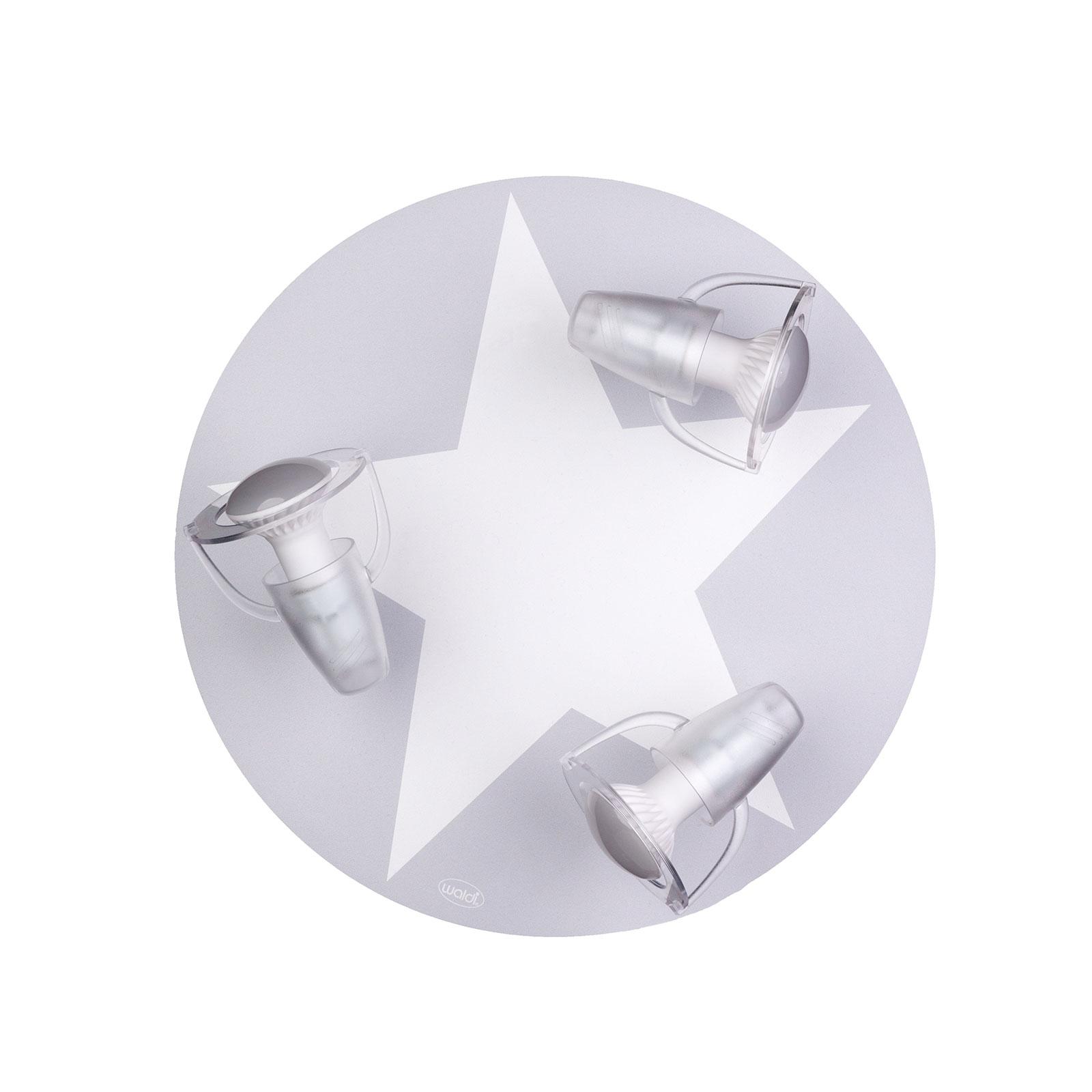 Plafondlamp ster in grijs