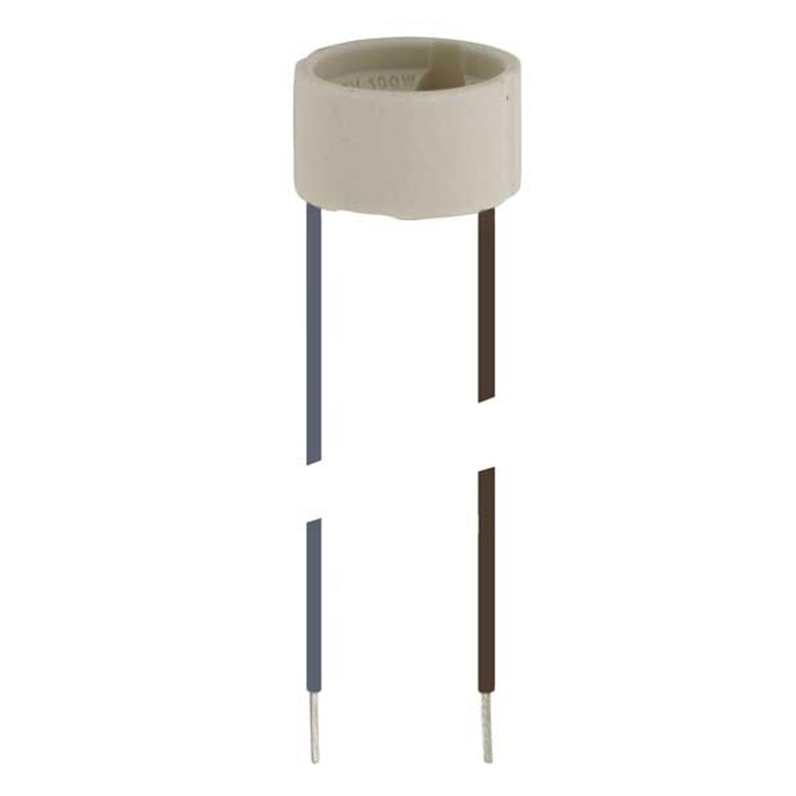 Fatning til højvolt-halogenpærer, sokkel GU10