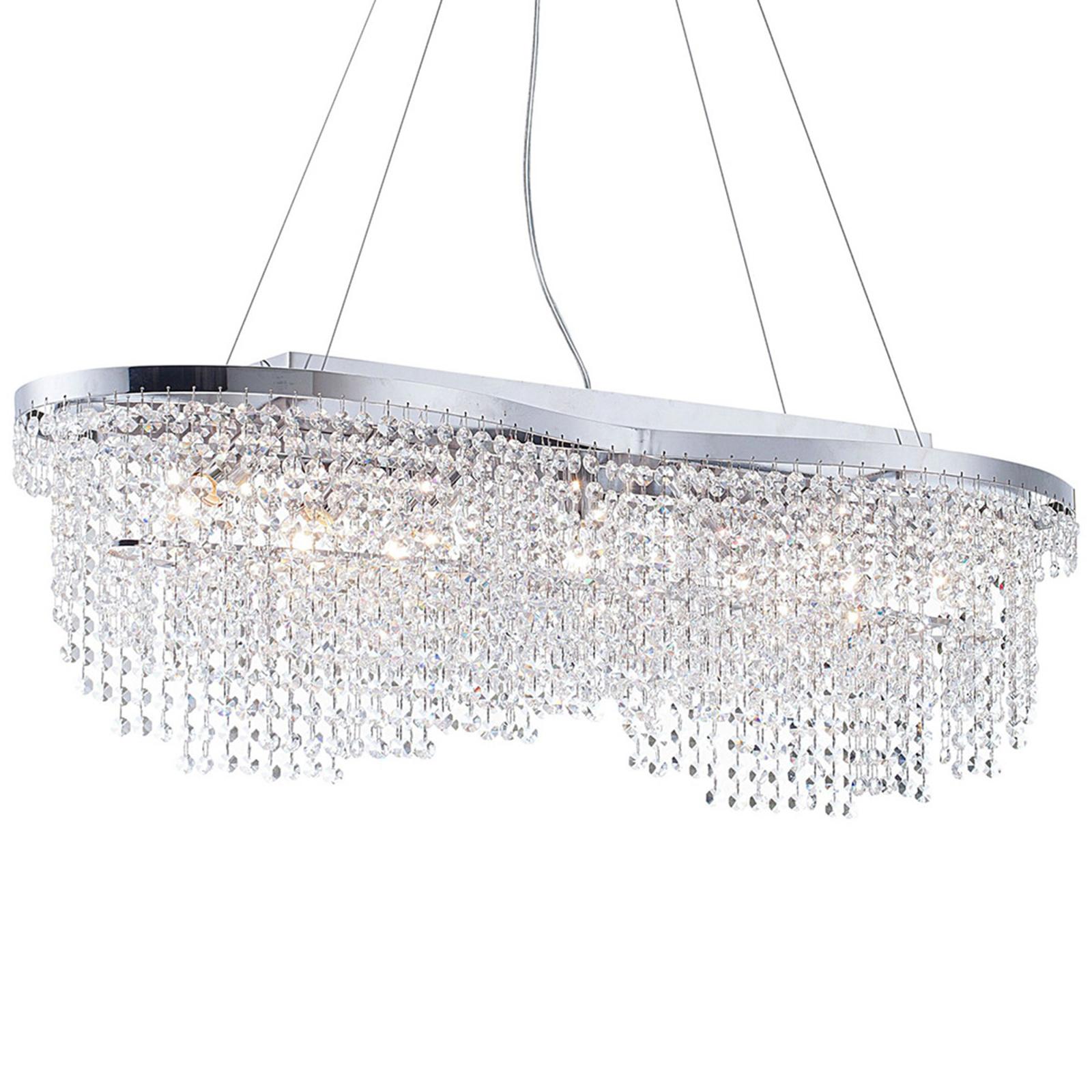 Lampa wisząca Toils z kryształami, chom