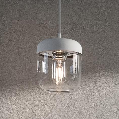 UMAGE Acorn závěsné světlo bílé/ocel, jednožárov.