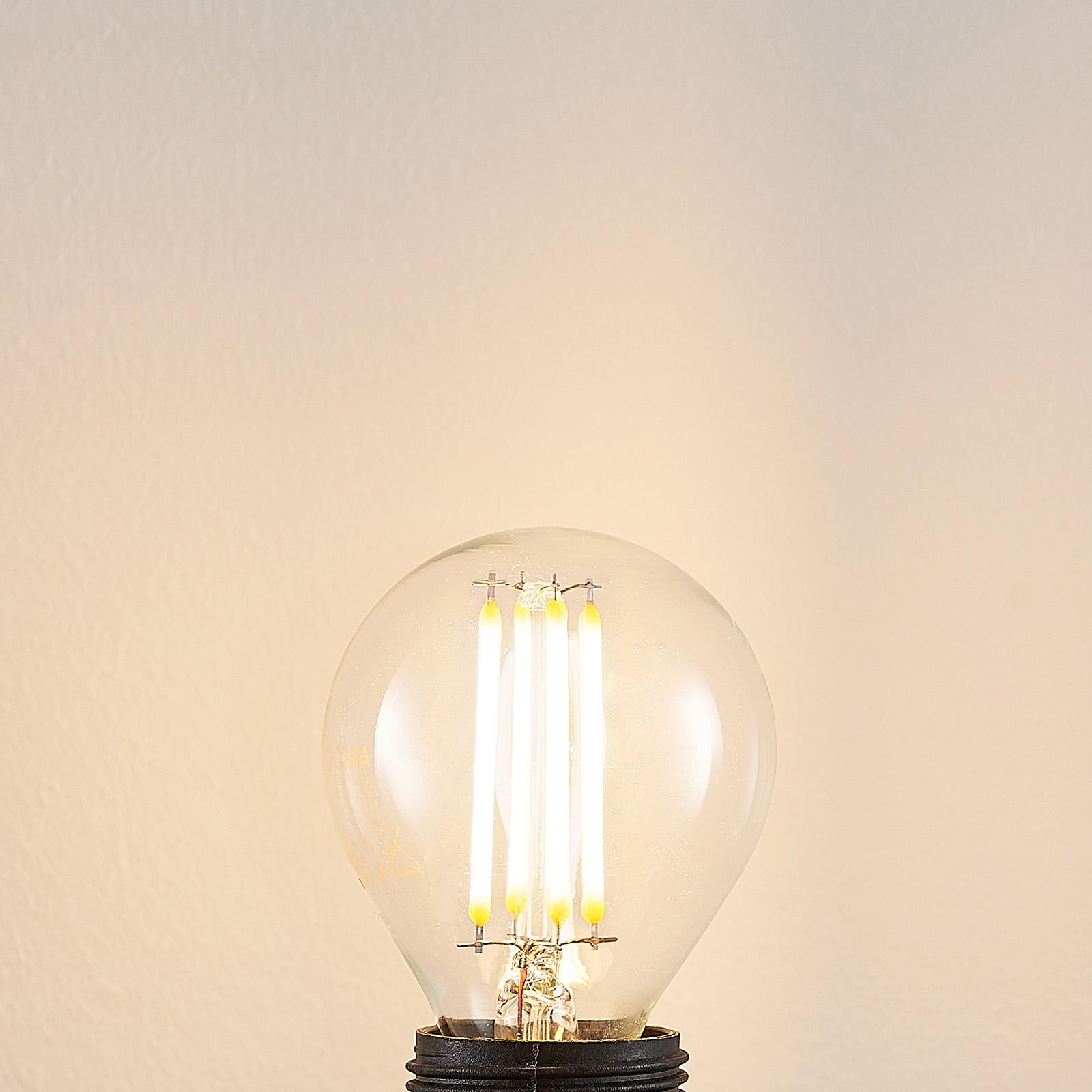 E14 LED-pære P45 4W 2,700K klar, dæmper med 3 trin