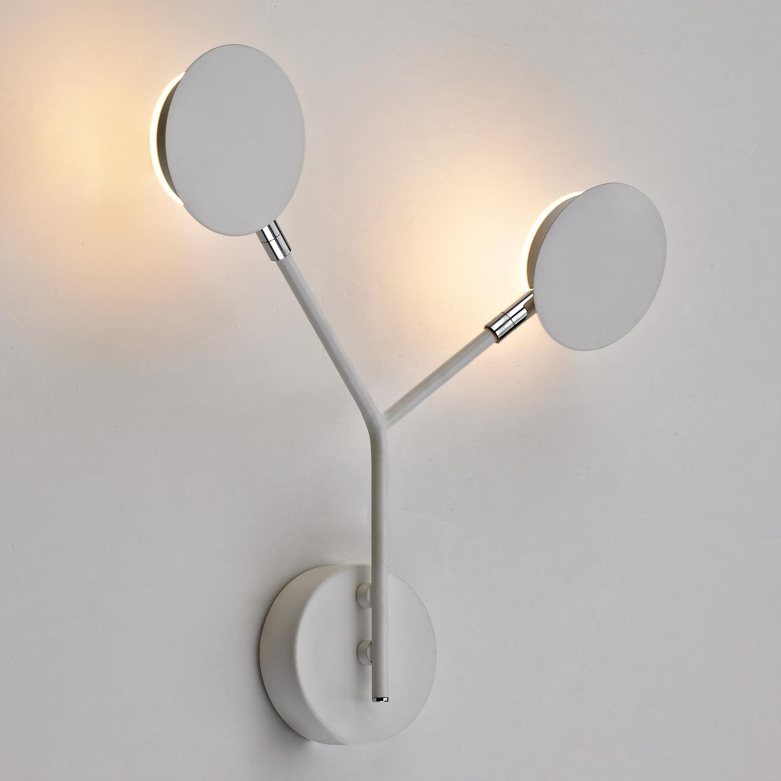 LED wandlamp Belize, 2-lamps, wit