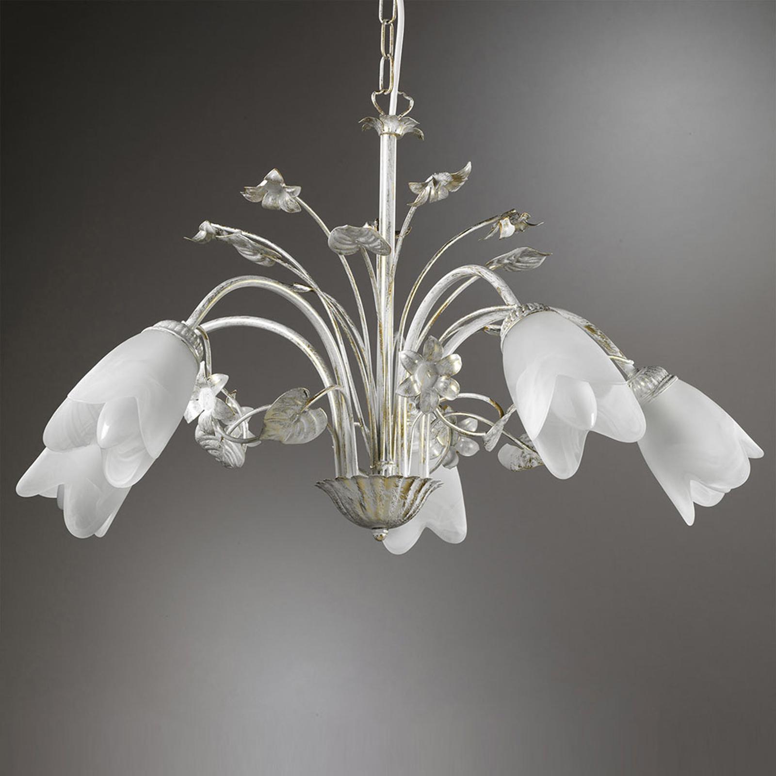 Petunia hængelampe, 5 lyskilder