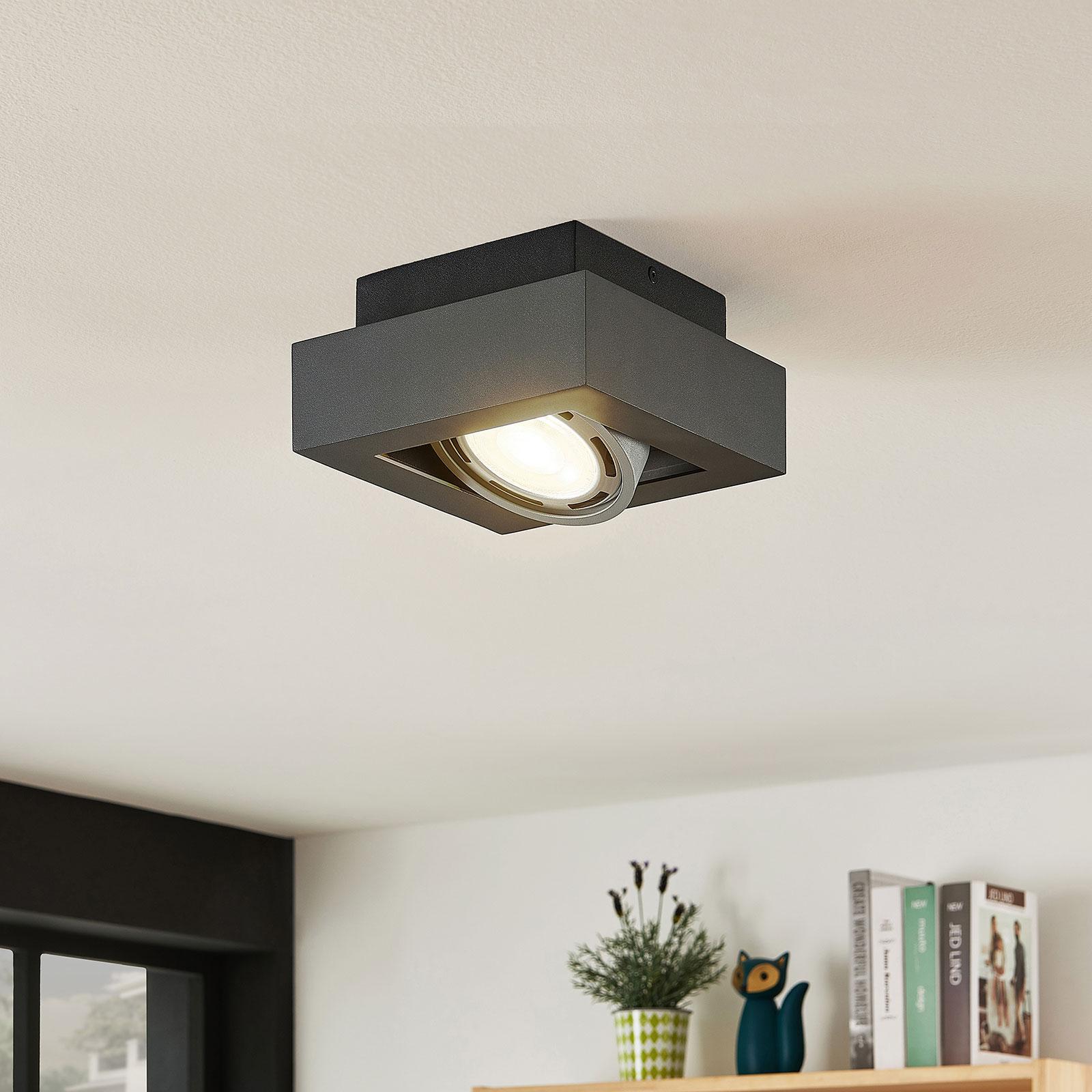 Spot pour plafond LED Ronka, 1 lampe, gris foncé