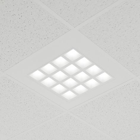 Zapustený LED panel Merti v bielej, 4000K