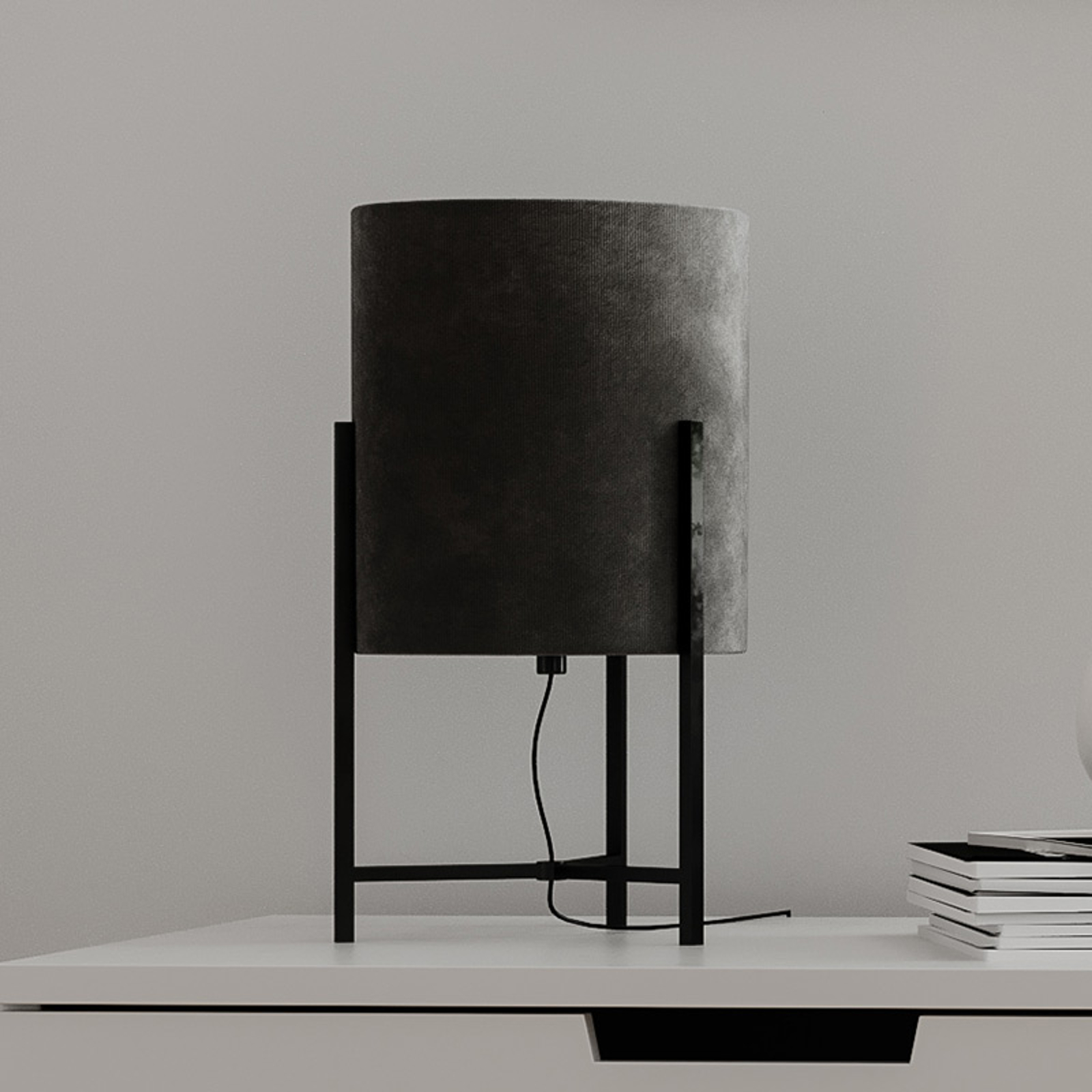 By Rydéns Honey lampa stołowa szara