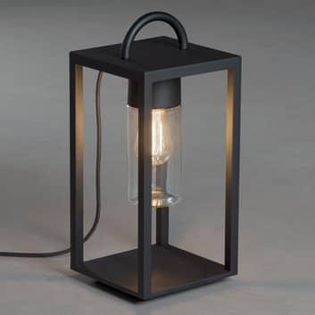 Lámpara de terraza Bolonia en forma de farol, E27