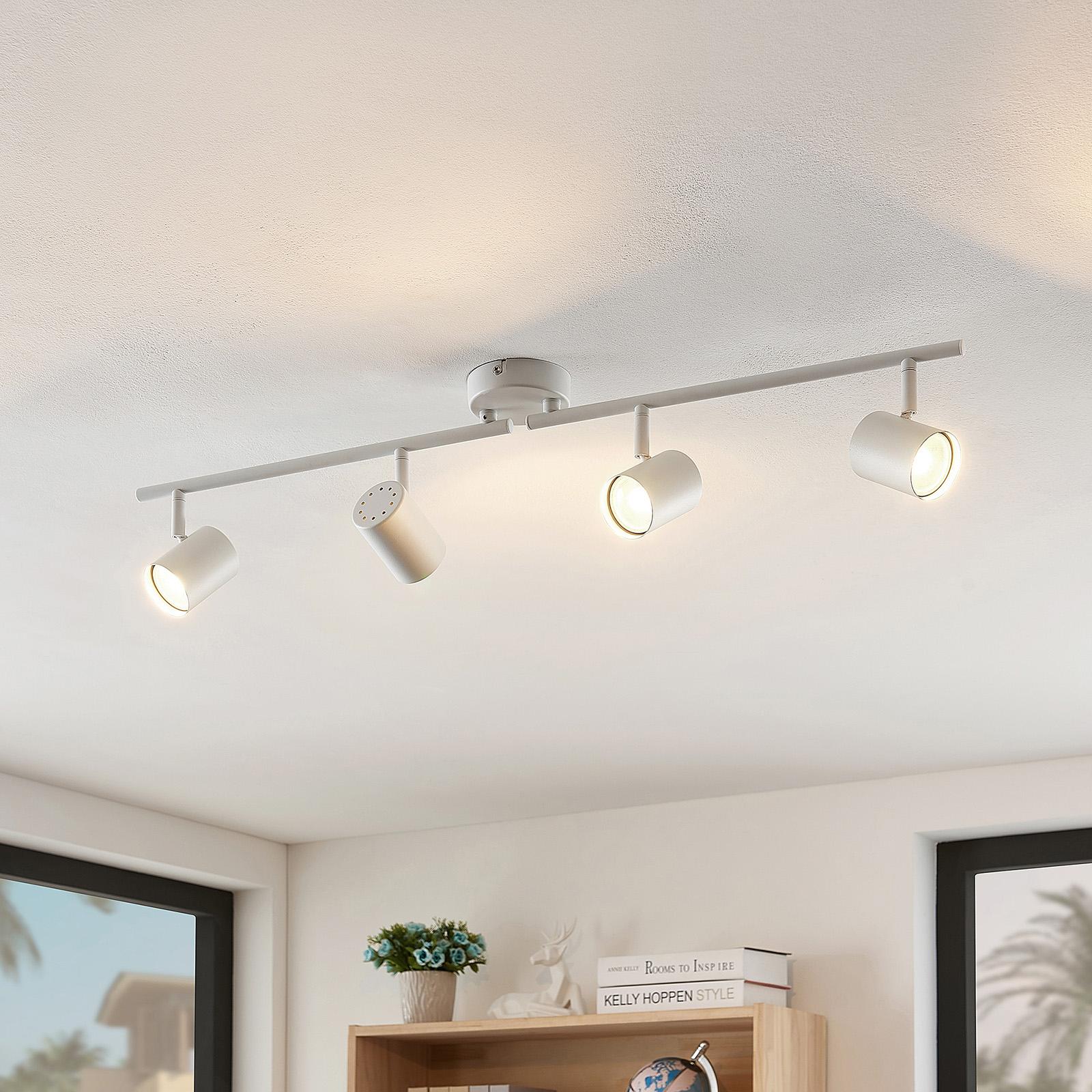 ELC Tomoki lámpara LED de techo, blanco, 4 luces