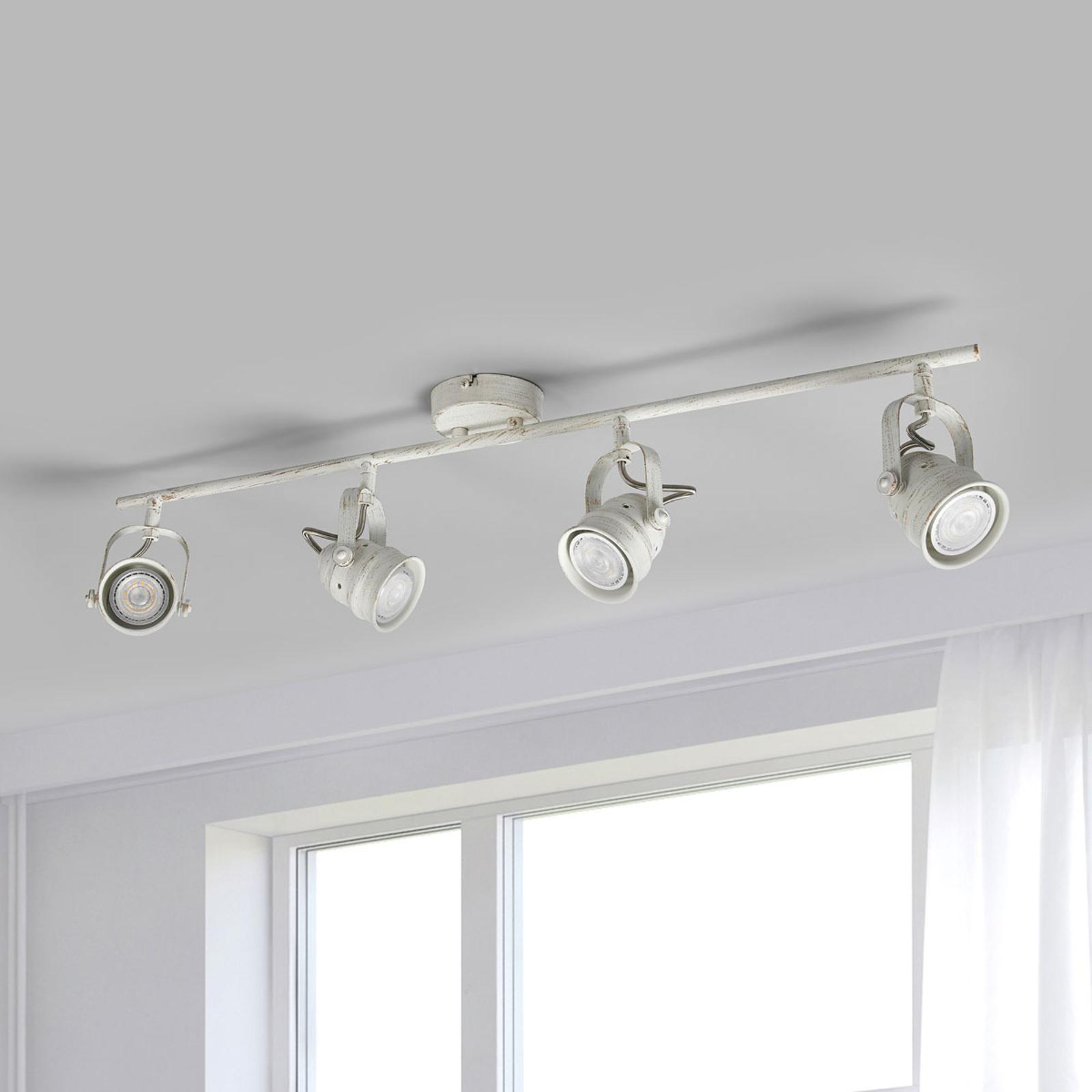 Weiße LED-Deckenleuchte Leonor, GU10