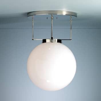 Brandts plafondlamp in Bauhaus-stijl, nikkel