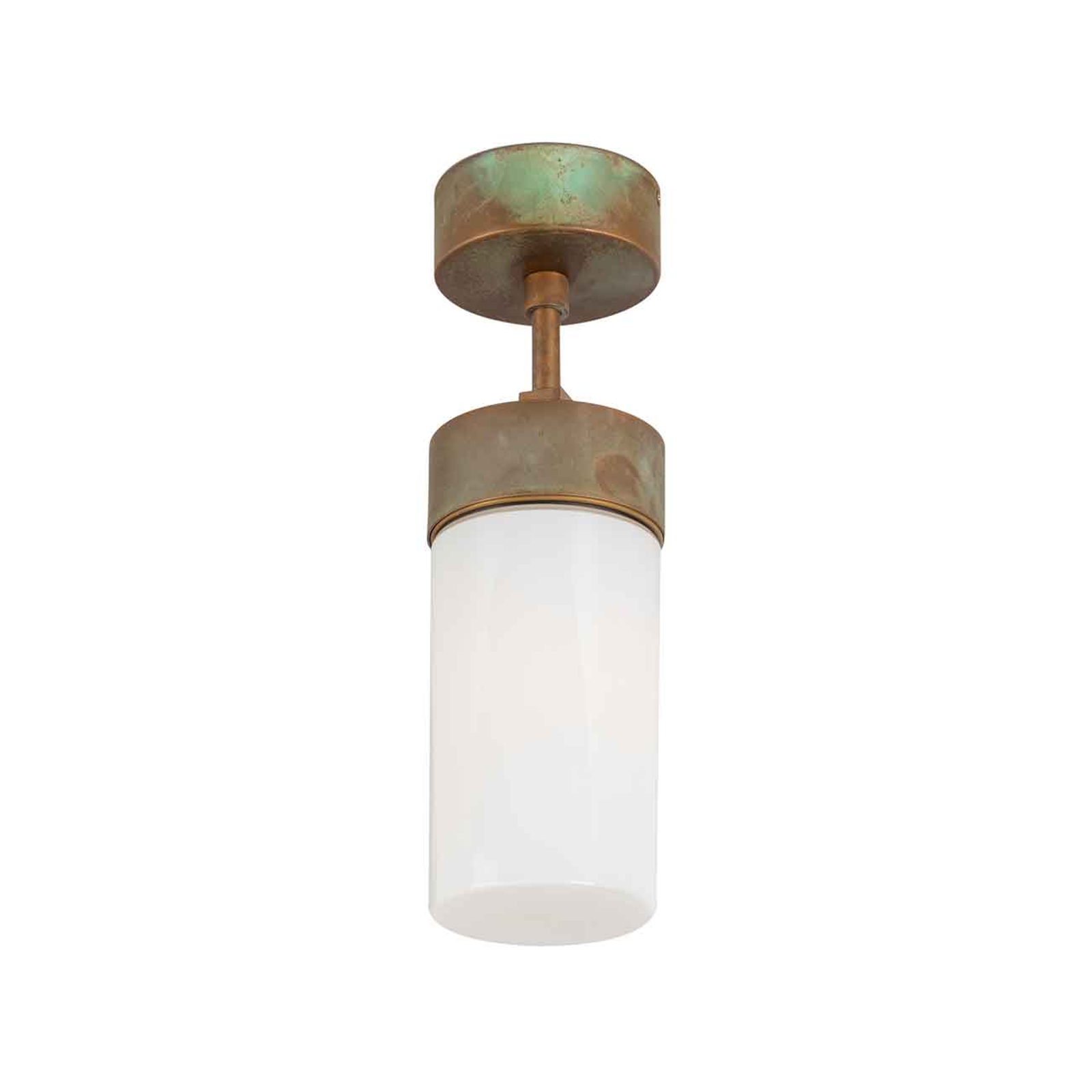 Lampa sufitowa Silindar 3357 mosiądz antyk/opal