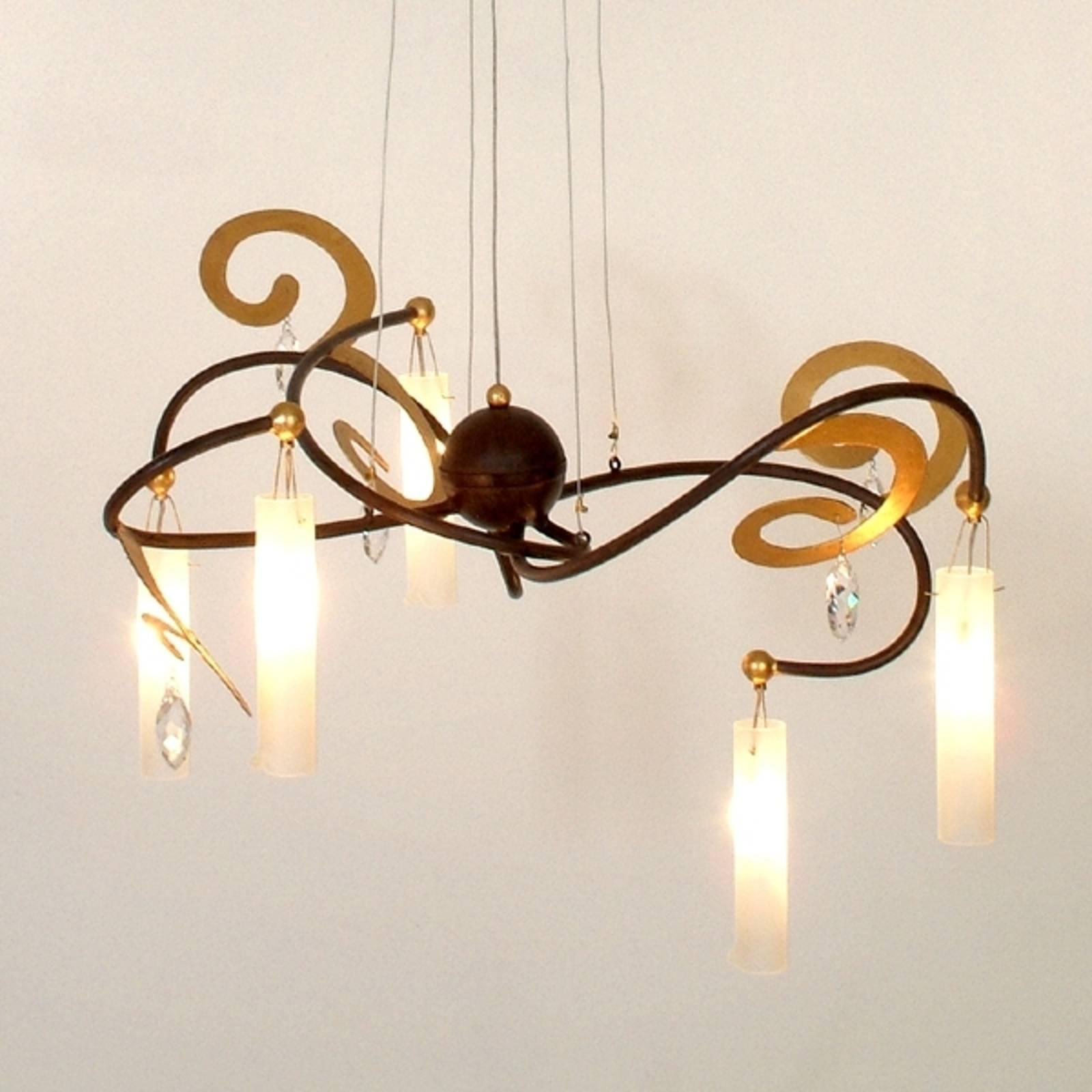 Piękna lampa wisząca LED Casino, 5-punktowa