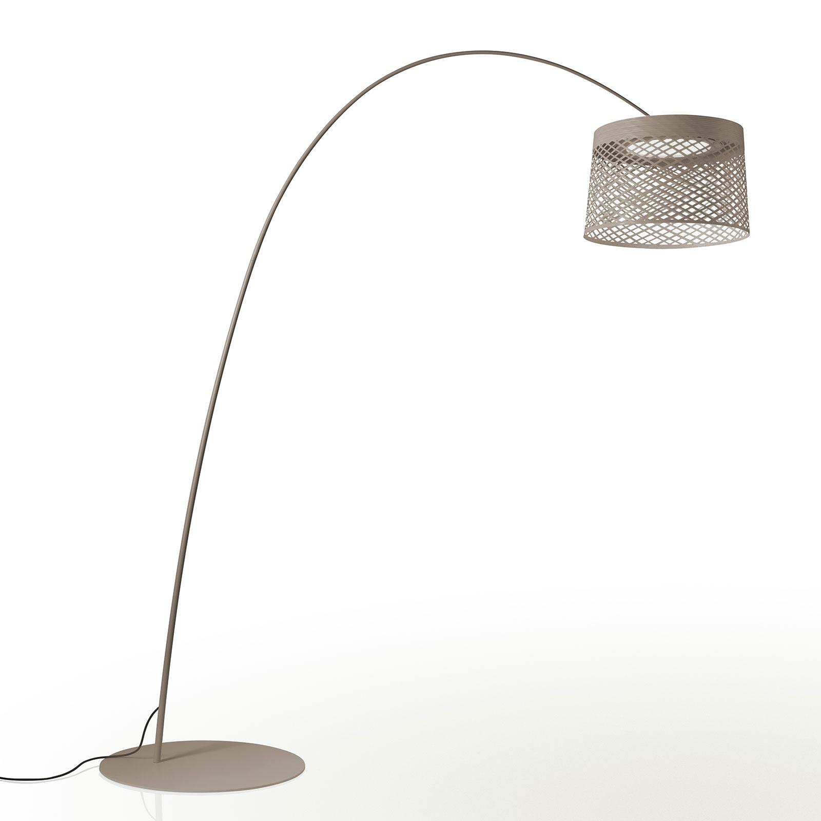 Foscarini Twiggy Grid LED-Bogenleuchte, greige