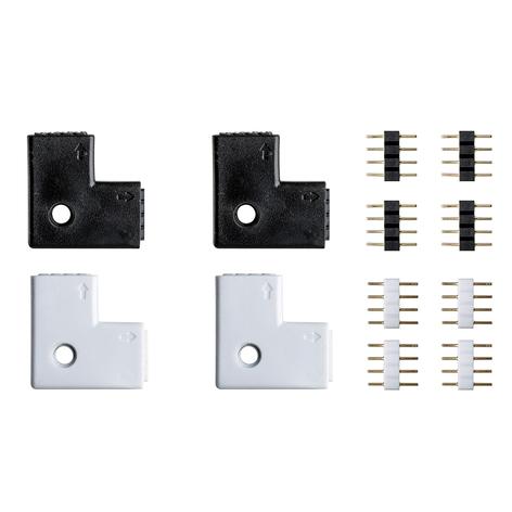 4-delt sett hjørneforbinder Your LED Strip-system