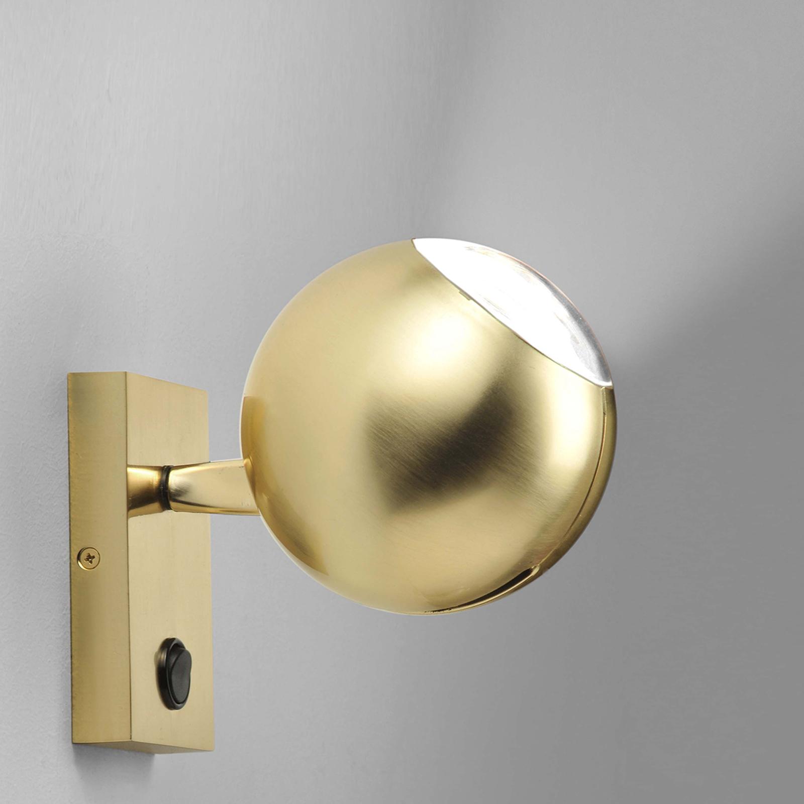 Milan Bo-La applique, fixation angulaire, dorée