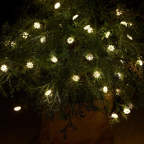 Interior y exterior: cadena de luces LED Silke, 40