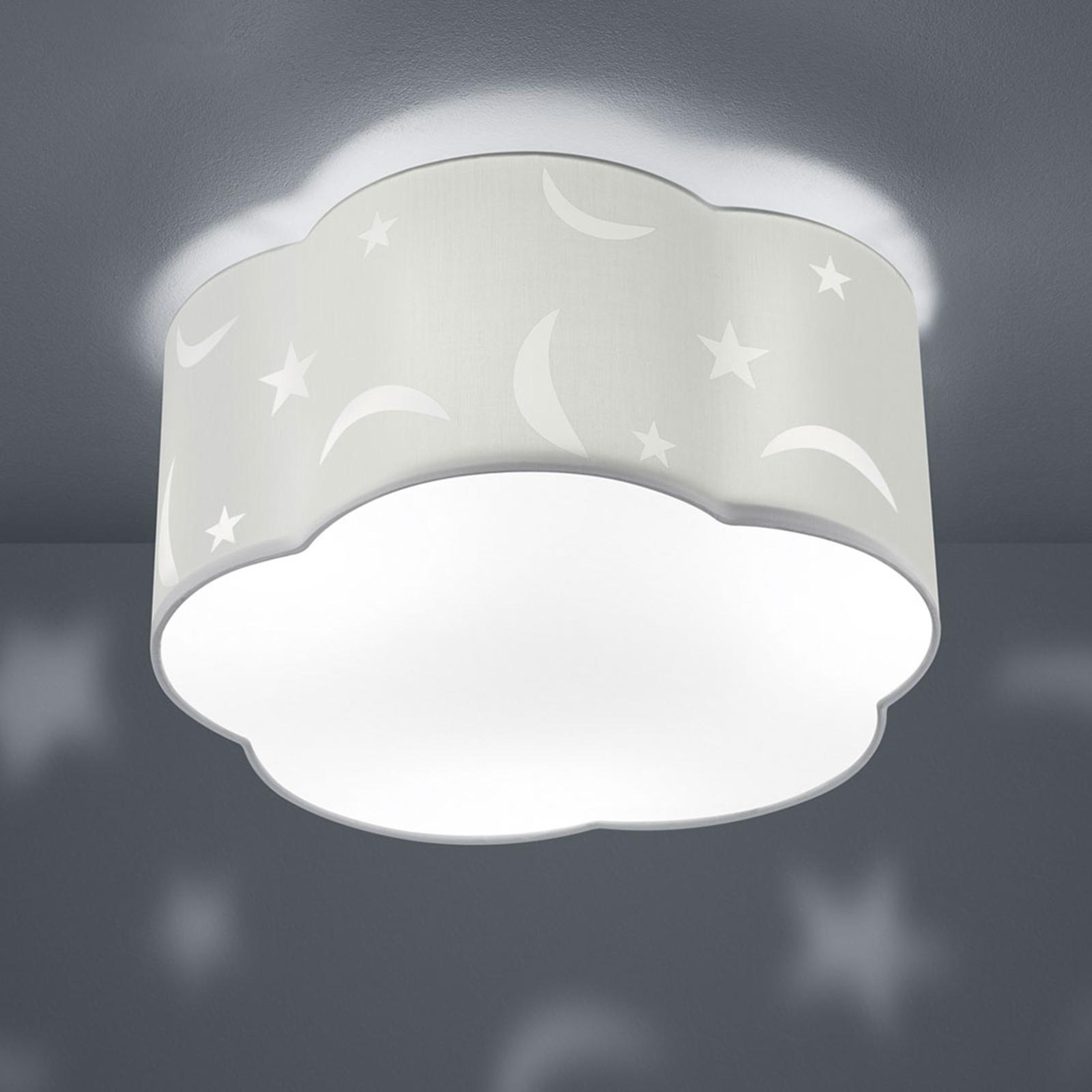 Taklampe Moony til barnerommet hvit