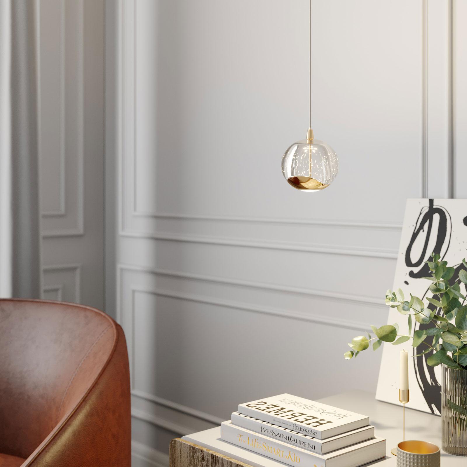 Lampa wisząca LED Hayley szklana kula 1-pkt. złota