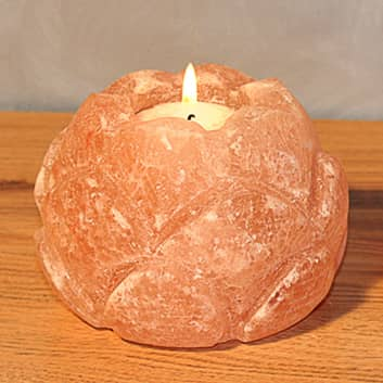 Lotusbleom kaarshouder zoutkristal