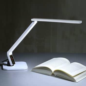 Modernissima lampada scrivania LED Eleni, bianca