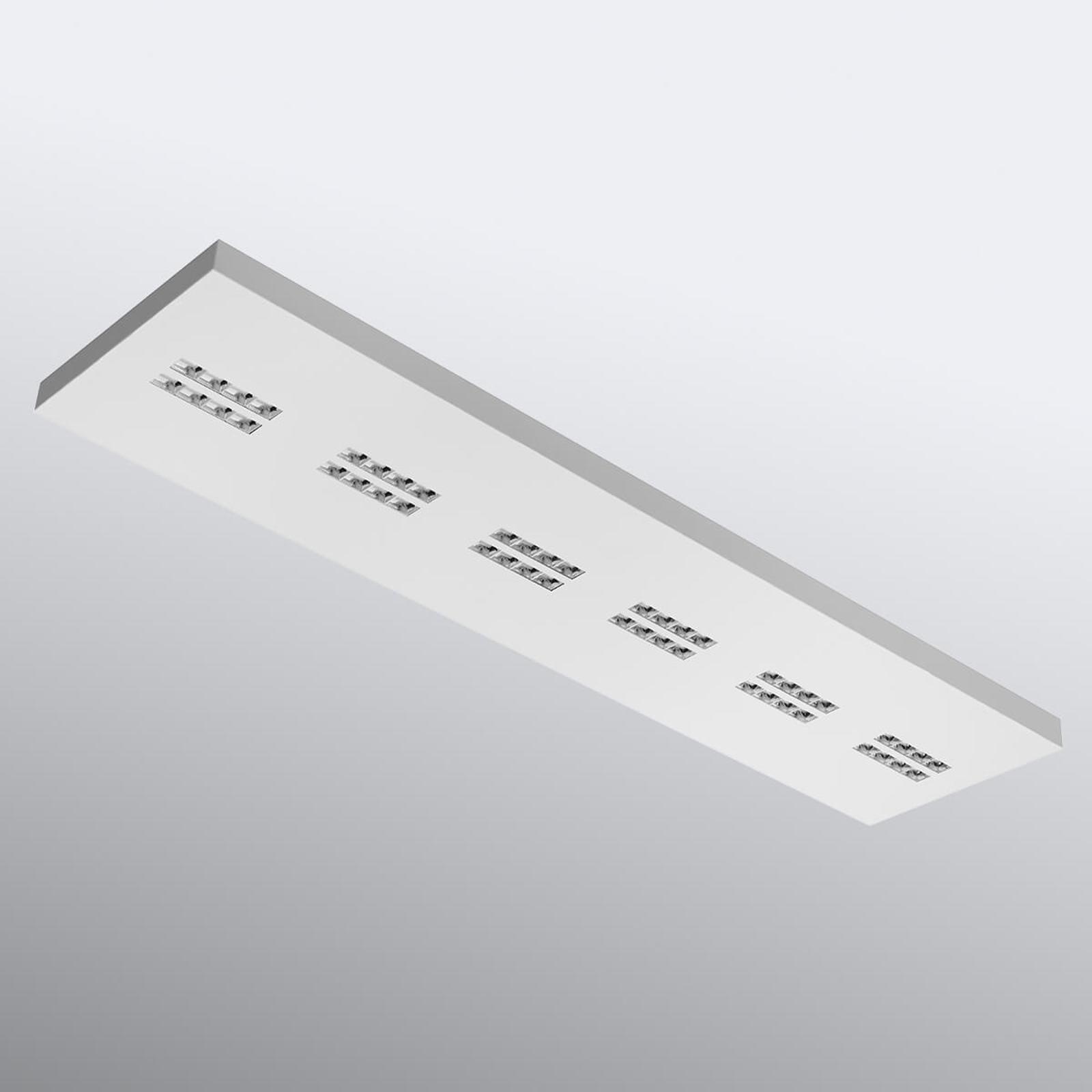 Rechteckige Deckenlampe Declan II SS4, 4.000 K