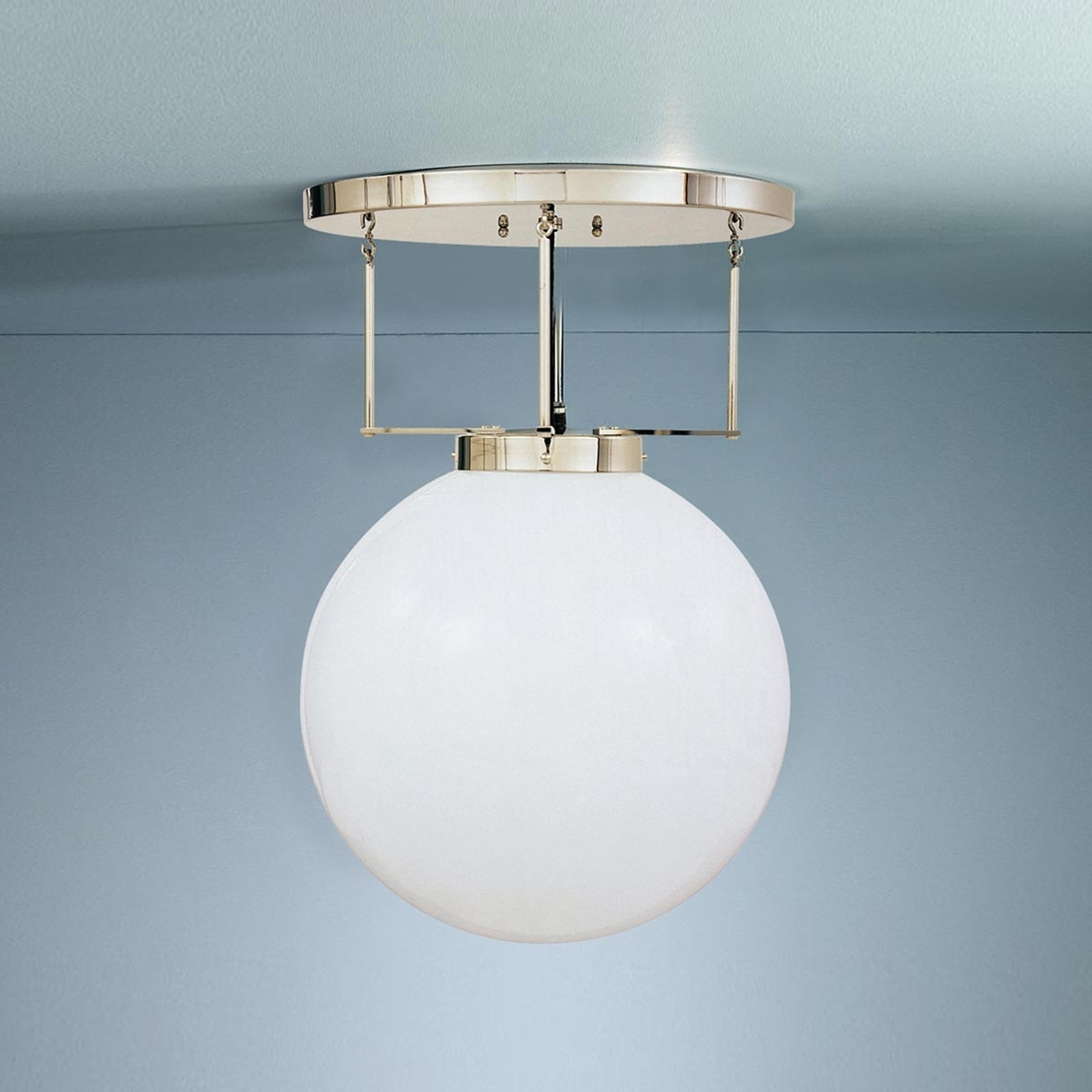 Loftlampe Af Messing I Bauhaus Stil Lampegiganten Dk